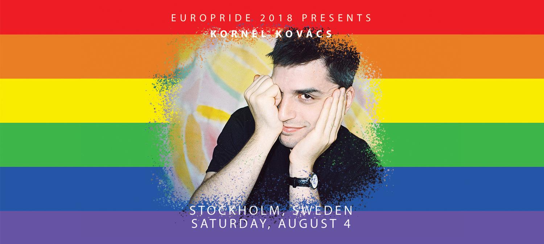 DJ Kornél Kovács till EuroPride 2018 Stockholm 3 augusti