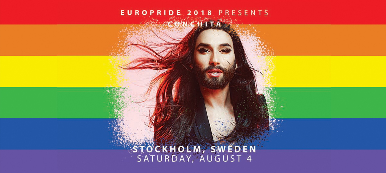 Conchita till EuroPride 2018 Stockholm 4 Augusti