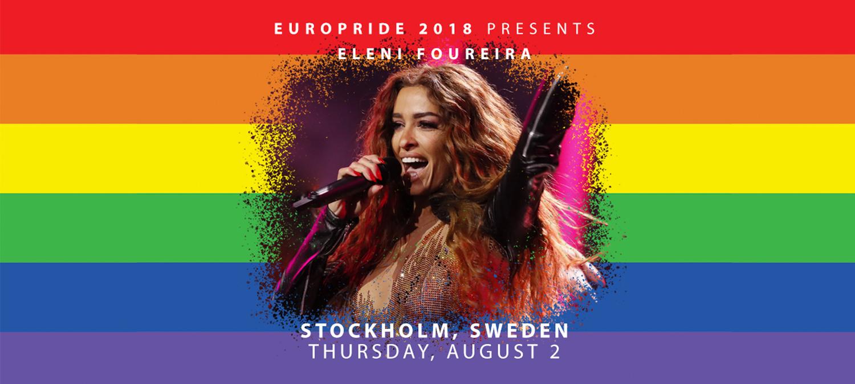 Eurovisionstjärnan Eleni Foureira till EuroPride Stockholm 2 Augusti