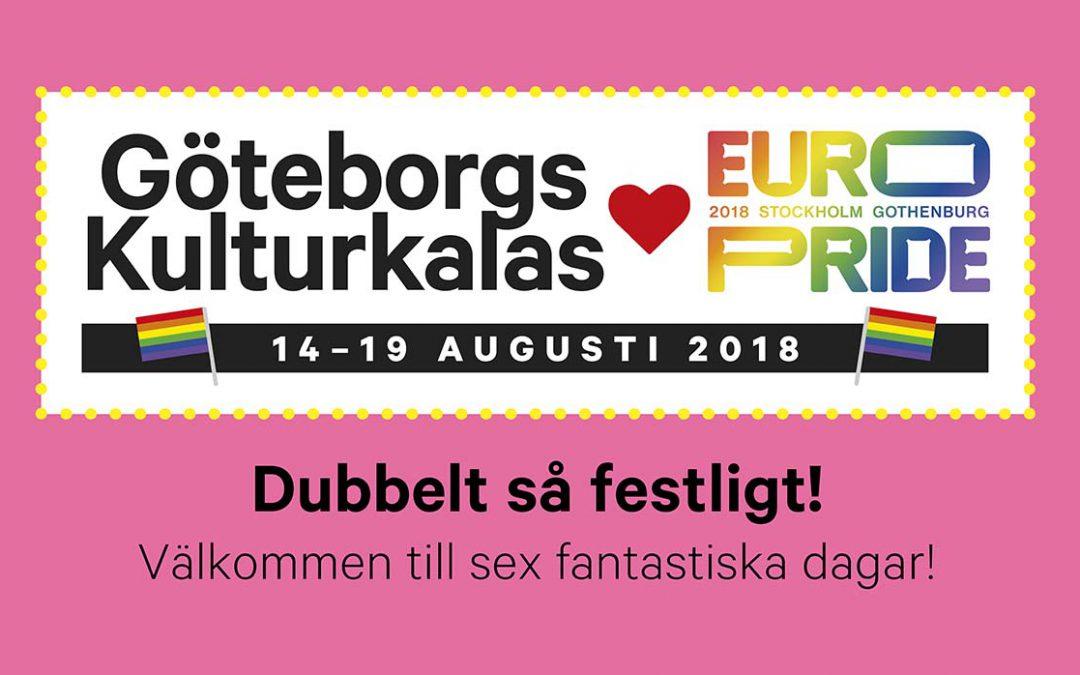 EuroPride 2018 Göteborg arrangeras samtidigt som Kulturkalaset