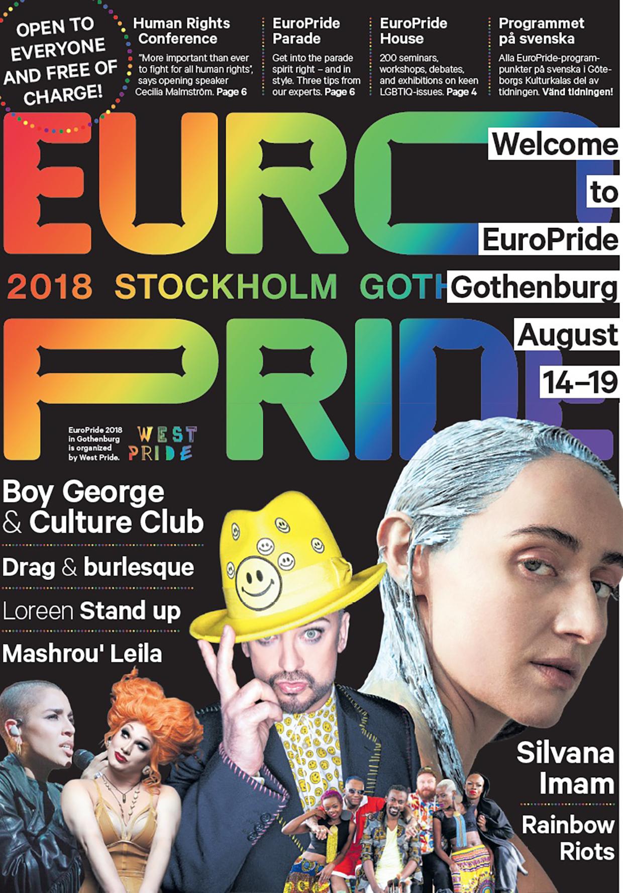 Programtidningen för EuroPride 2018 Göteborg tillgänglig på webben