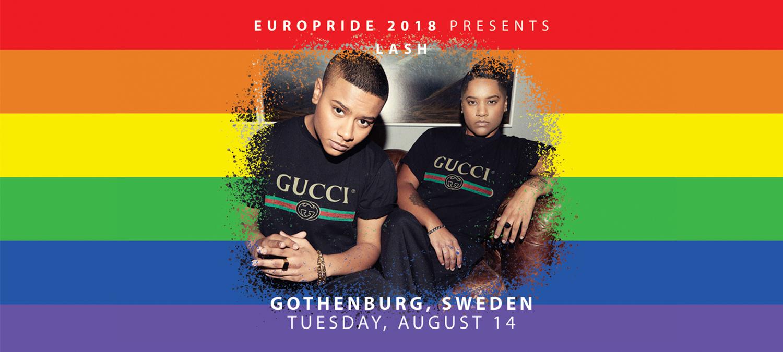 LASH på öppningen av EuroPride Park i Göteborg