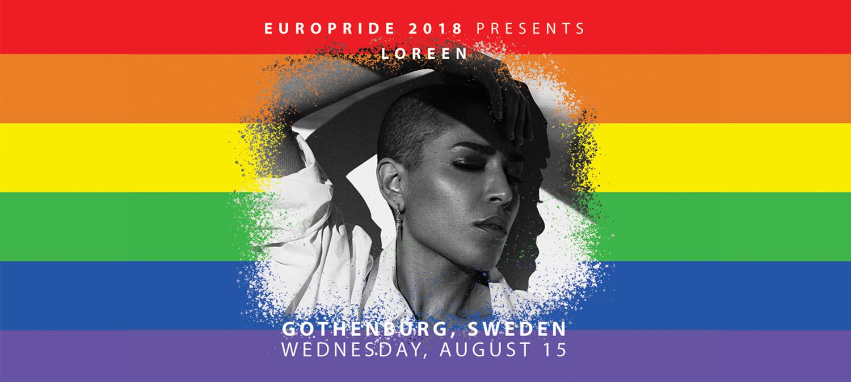 EuroPride 2018 presenterar stolt Loreen
