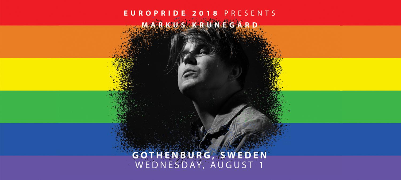 Markus Krunegård är årets regnbågssångare på EuroPride Stockholm 1 augusti