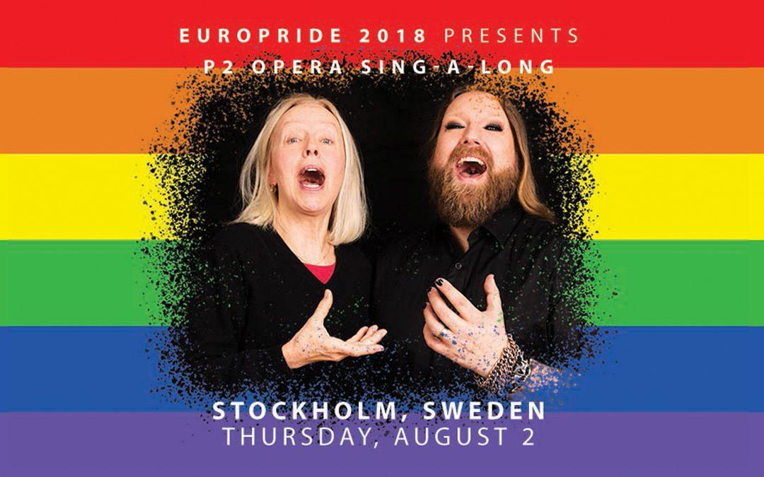 Anne Sofie von Otter gästar P2 Opera sing-a-long i EuroPride Park 2 augusti