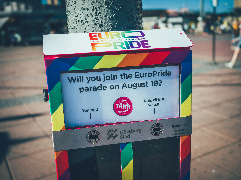 Fimpomater i Göteborg väcker tankar kring Pride