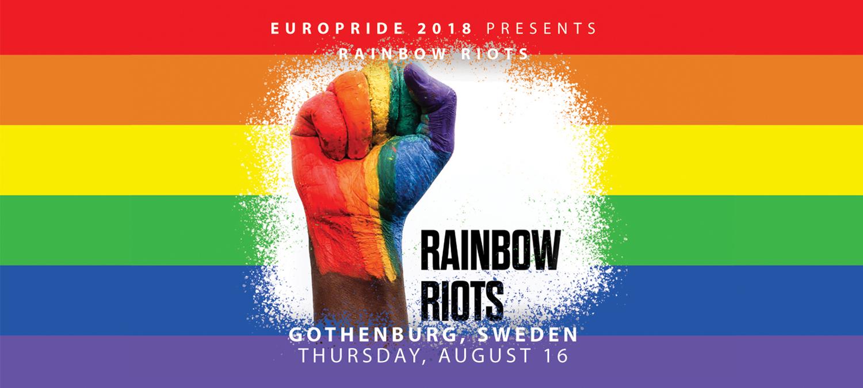 EuroPride 2018 presenterar Rainbow Riots
