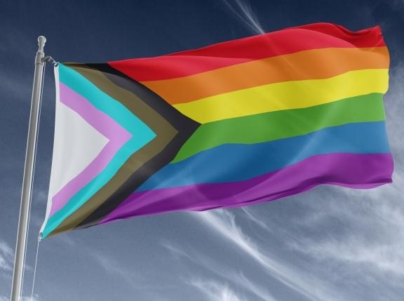 en progressive flag vajar i vinden