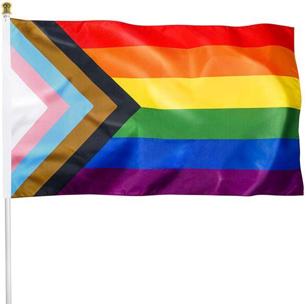progressive flag med vit bakgrund