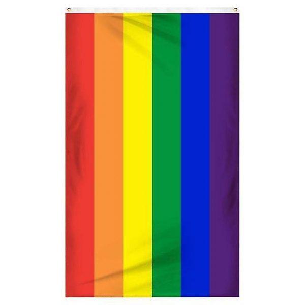 regnbågsflagga med vit bakgrund